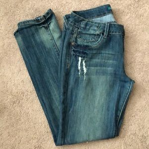 Almost Famous Distressed Blue Skinny Jeans
